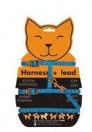 Шлея нейлоновая с поводком для котов и кошек
