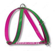 """Шлейка  """"Восьмерка"""" комбинированная, лак, зелено-розовая"""