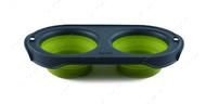 Складная миска для кормления зеленая Collapsible Pet Feeder™