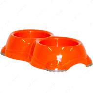 СМАРТИ №1 двойная миска для собак и кошек, d-11 см