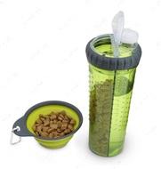 Бутылка двойная для воды и корма со складной миской 720 мл Snack DuO™ with Collapsible Cup