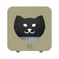Спальный кубик-домик для котов серо-коричневый KASA BEDROOM КІТТІ
