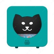 Спальный кубик-домик для котов сине-зеленый KASA BEDROOM КІТТІ