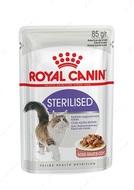Влажный корм для стерилизованных кошек и котов в соусе STERILISED wet in gravy