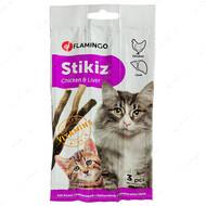 Лакомство с курицей и печенью для котов и котят Stikiz Chicken&Liver