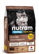 Сухой корм для котят и кошек, с индейкой, курицей и уткой T22 Total GF Turkey & Chiken Cat