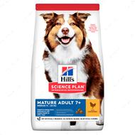 Сухой корм для собак средних пород старшего возраста 7+ с курицей Hill's Science Plan Mature Adult Medium