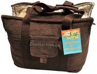 сумка переноска для собак коричневая