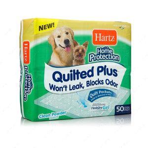 Супер впитывающие антибактериальные пеленки для собак и щенков с ароматом пудры Hartz Home Protection™ Quilted plus training pads for dogs & puppies
