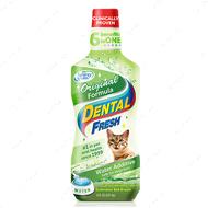 """""""Свежесть зубов"""" Жидкость от зубного налета и запаха из пасти кошек """"Dental Fresh Cat"""""""