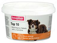 Мультивитамины с L-карнитином для собак Top 10 Dog