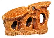 Тройной керамический  домик для водяной черепахи