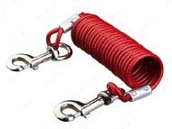 Трос - спираль привязочный с карабинами 5 м
