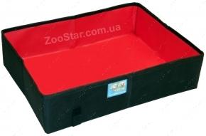 Туалет дорожный для кошек складной, малый, черный 20 х 30 см