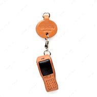 Vanca МОБИЛЬНЫЙ ТЕЛЕФОН, 3D брелок на мобильный, натуральная кожа - 2,5х2,5х1см.
