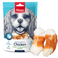 Лакомство для собак косточки с вяленой курицей Chicken Jerky & Rawhide Wraps