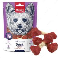 Лакомство для собак косточка с вяленой уткой Wanpy Duck Jerky Dumbbells