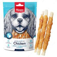 Лакомство для собак палочки с вяленой курицей Wanpy Chicken Jerky & Rawhide Twists