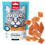 Лакомства для котов вяленая курица Wanpy Chicken Jerky Bites