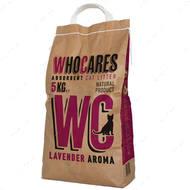 """""""WhoCares Lavander"""" впитывающий наполнитель в кошачий туалет с запахом лаванды"""