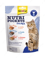 Витаминные лакомства для котов морской микс Nutri Pockets Sea Mix
