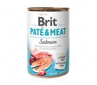 Влажный корм для собак с лососем Brit Pate & Meat Dog Salmon