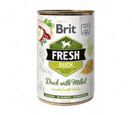 Влажный корм для собак с уткой и пшеном Brit Fresh Duck with Millet