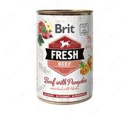 Влажный корм для собак с говядиной и тыквой Brit Fresh Beef with Pumpkin