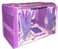 """Выставочная палатка для кошек кошек и собак """"Гламур"""" сиреневая + 4 подарка!"""