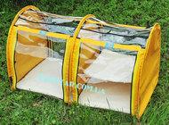 """Выставочная палатка для кошек, собак """"Аквариум"""" Модуль Двойка Желтая"""