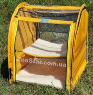"""Выставочная палатка для кошек, собак """"Аквариум"""" Модуль Единица Желтая"""
