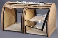 Выставочная палатка для кошек, собак Модуль Двойка Бежевая