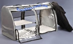 Выставочная палатка для кошек, собак Модуль Двойка Серая