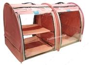 Выставочная палатка для кошек, собак Модуль Двойка Светло-Розовая