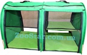 Выставочная палатка для кошек, собак Модуль Двойка Зеленая