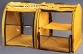 Выставочная палатка для кошек, собак Модуль Двойка Желтая