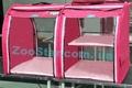 Выставочная палатка для кошек, собак Стандарт Двойка Малиновая