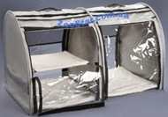 Выставочная палатка для кошек, собак Стандарт Двойка Серая