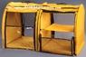 Выставочная палатка для кошек, собак Стандарт двойка желтая
