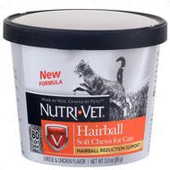 Жевательные таблетки для выведения шерсти котов ХЭИРБОЛЛ Hairball Soft Chews