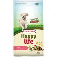 Cухой корм для собак средних и крупных пород с яненком Happy Life Adult with Lamb