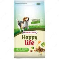 Cухой корм для собак всех пород с курицей и овощами Happy Life Adult Dinner with Chicken